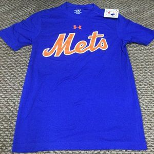 NWT New York Mets Blue Under Armour T-Shirt Small